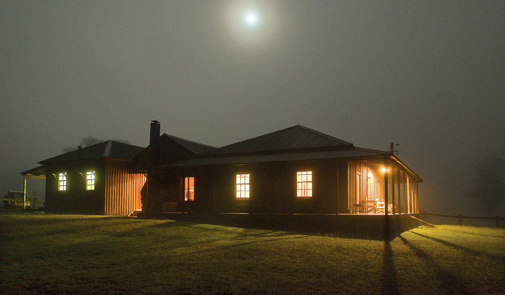 East Kunderang Homestead by night.