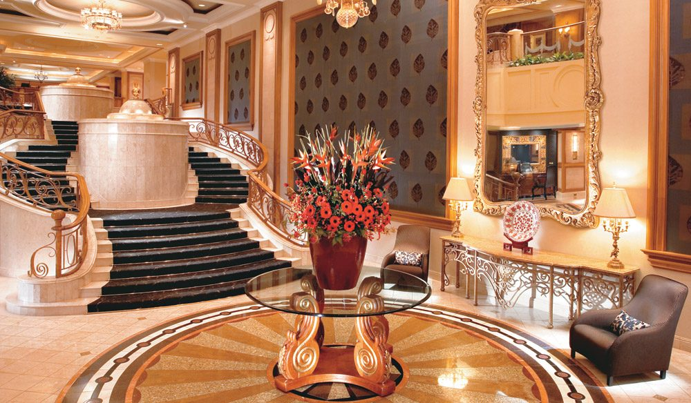 Easily one of the city's most opulent lobbies can be found at the Langham Hotel.