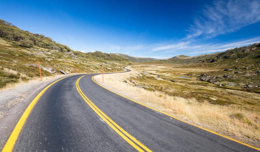 The Kosciusko Road near Perisher