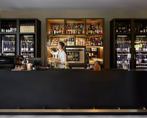 The bar of Hotel Realm, Canberra.