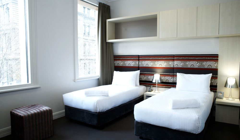 A Twin Room - The Pensione Melbourne