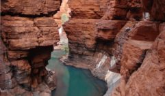 Abseiling in Karijini National Park.