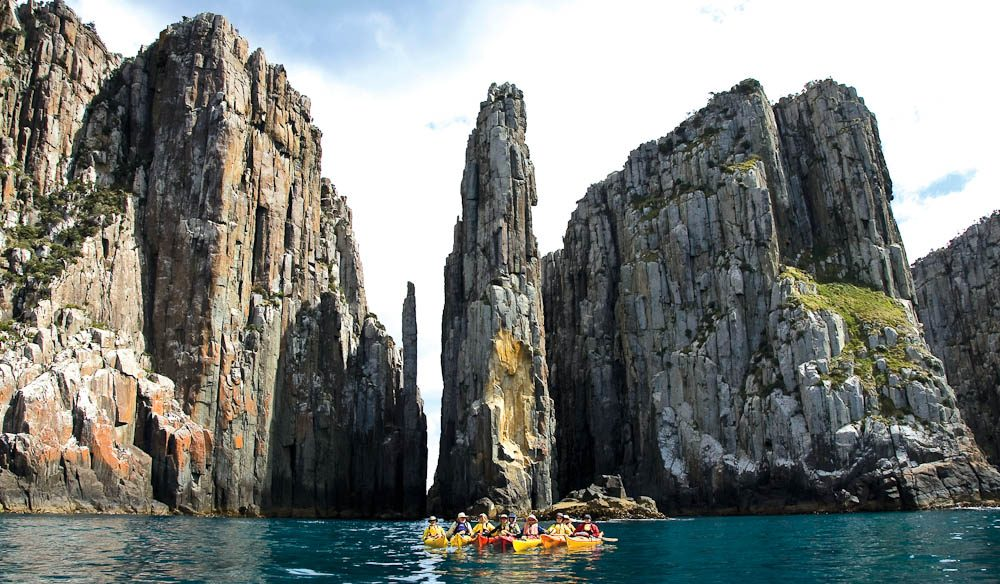 The spectacular columns and cliffs surrounded by pristine waters are incredible
