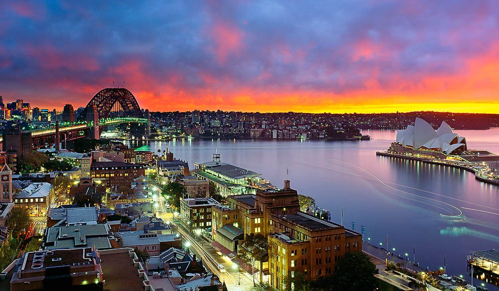 I had never witnessed such an incredible view of the harbour - Mark Gray