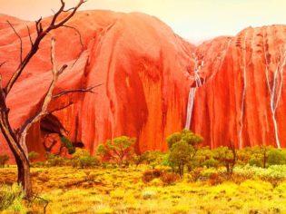 Uluru in the wet