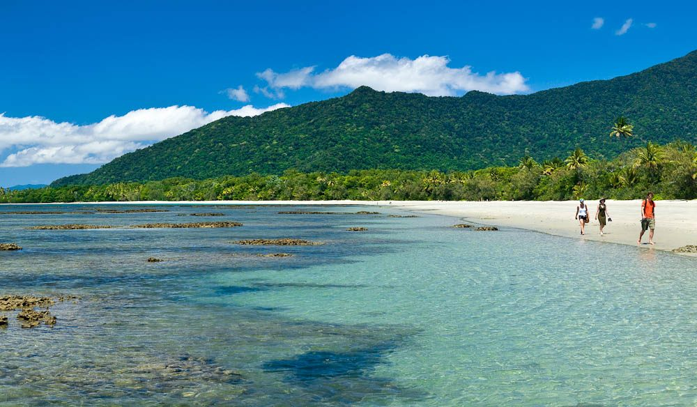 Myall beach plays host to views of Cape Tribulation
