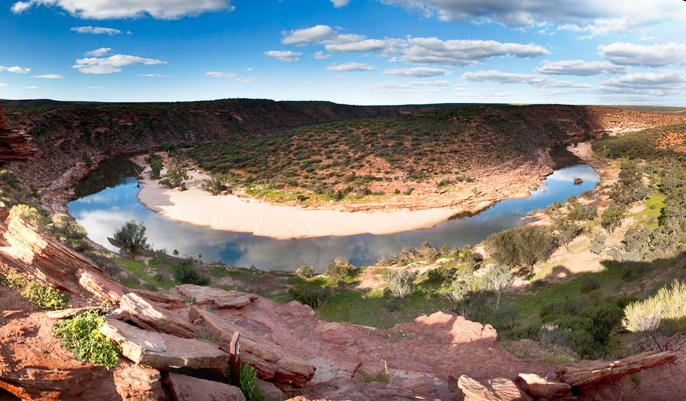 """Named after the enormous Z bend created over time by the Murchison River, the lookout offers views that will spellbind visitors"