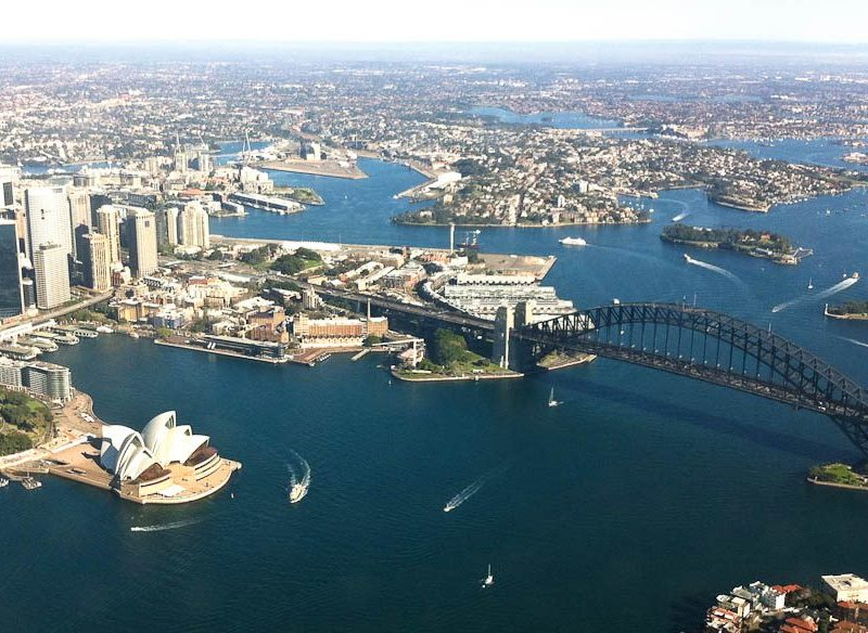 Sydney Harbour from the air