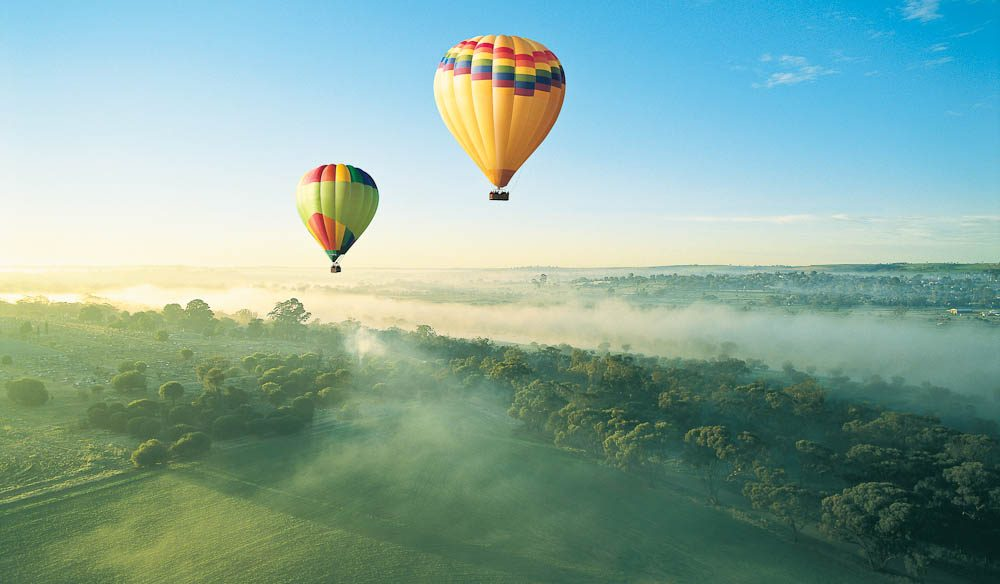 """The countryside is a beautiful patchwork of colours"" – Heather Meiklem, Windward Balloon Adventures"