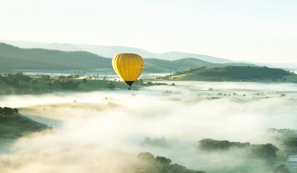 """A dawn hot-air balloon ride over the Yarra Valley is something special"" – Lincoln Wilson, Yarra Ranges Regional Marketing"