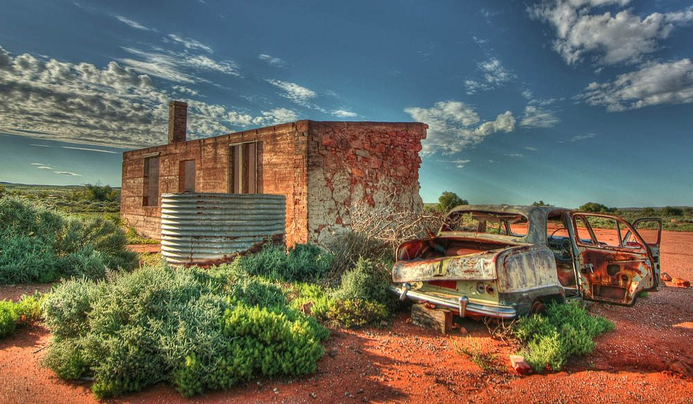 """The colour of the sand matches the colour of the rusting car, which is embedded in the most amazing landscape in the NSW outback"" – Hartmut Toepler"