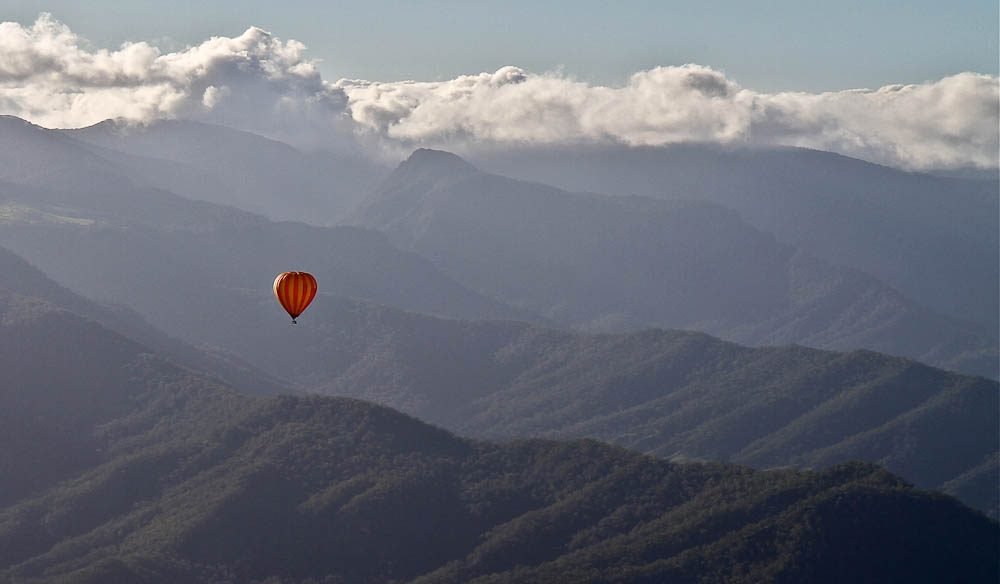 """Being in a balloon here is like you're floating back in time, before there were highways and skyscrapers"" – Rachel Casey, Hot Air Ballooning Gold Coast"