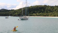 Kayaking around the Whitsunday's floating community (photo: Celeste Mitchell).