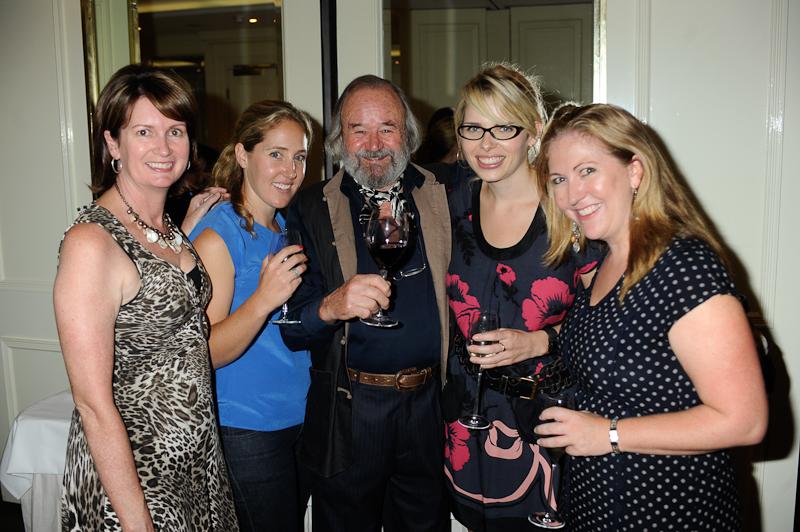 Peter Russell Clarke was a very popular man on the evening. L-R Kerry Van Der Jagt (Freelance), Leah Greengarten (Freelance), Kate Blakely (Carat Australia), Amy Flemming (Carat Australia)