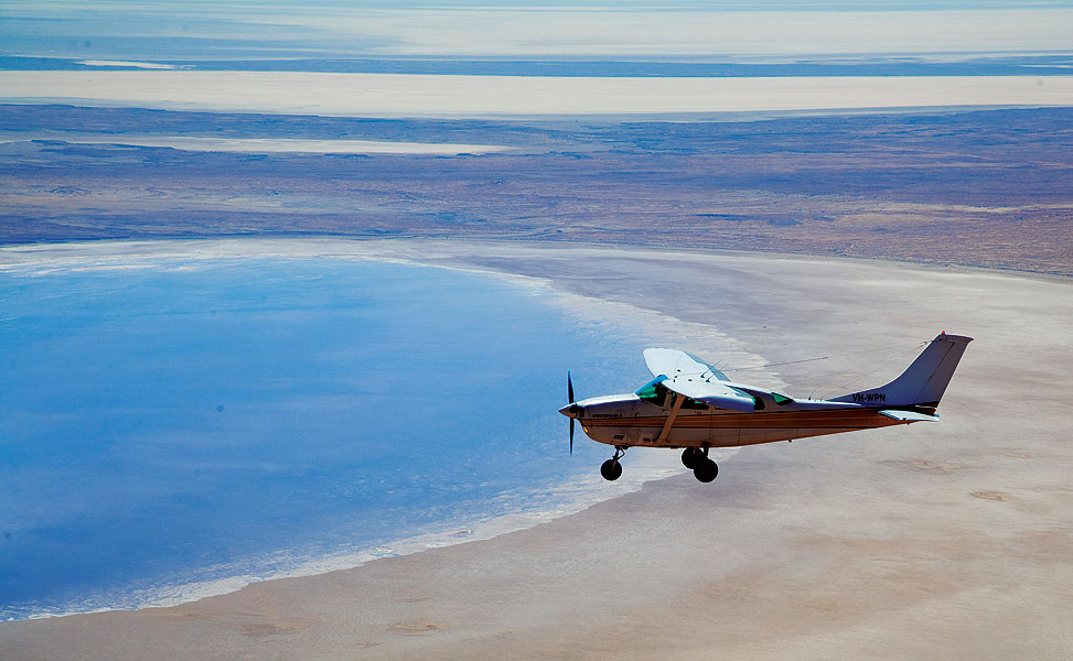 Lake Eyre In Flood. Image Courtesy Wrights Air