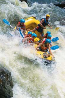 Rafting on Queenslands Tully River is