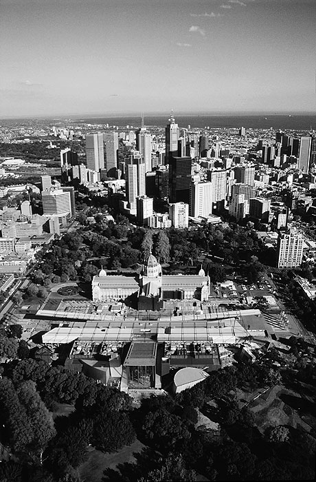 Carlton and Melbourne CBD.