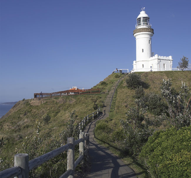 The lighthouse that sits between Watego's Beach and Tallows Beach. Image by Tourism NSW