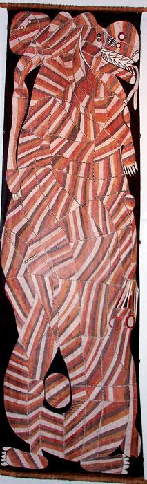 John Mawurndjul�s Rainbow Serpent.