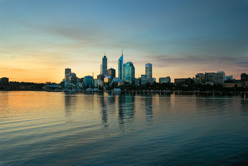 Swan River and the skyline. Image by Tourism WA