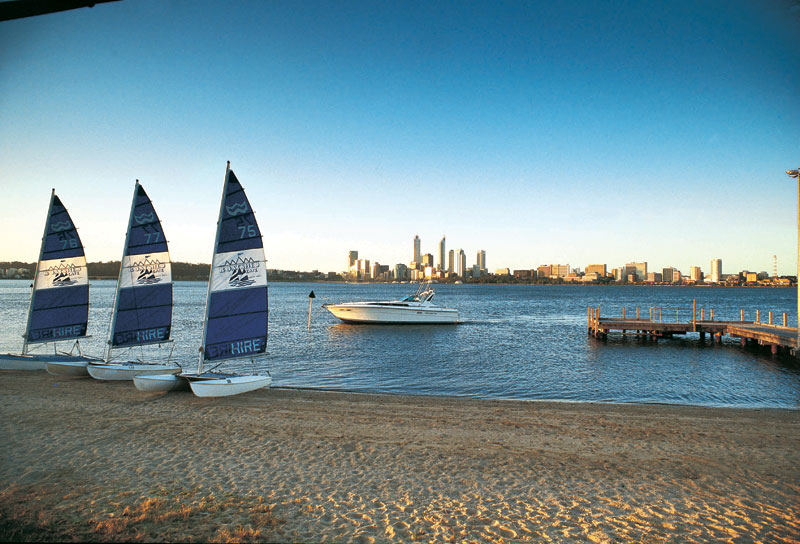 Sailing, one of the iconic pleasures of Perth. Image by Tourism WA
