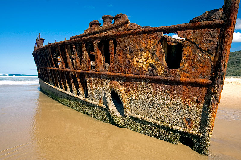 The wreck of the Maheno is one of the major stops along the
