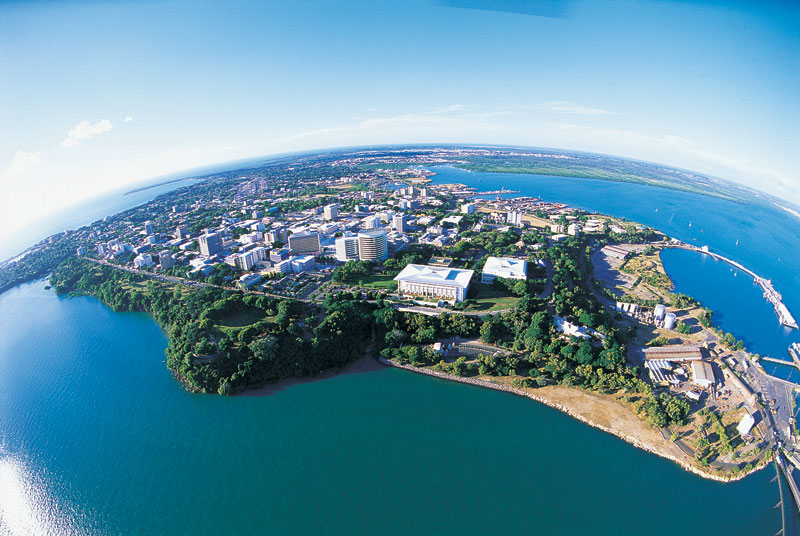 Aerial view of Darwin. Image by Tourism NT