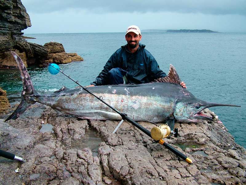 Land a marlin from the rocks. Image by www.sportfishextreme.com