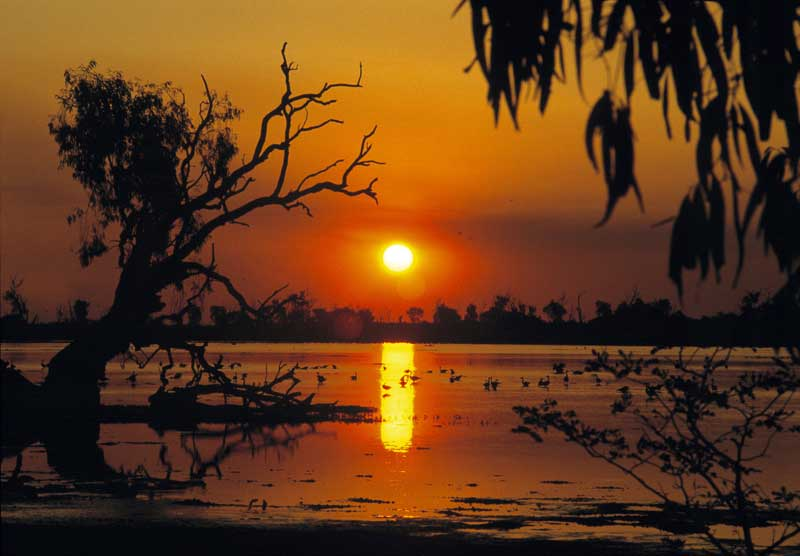 Camp by a billabong.  Image by Tourism NT
