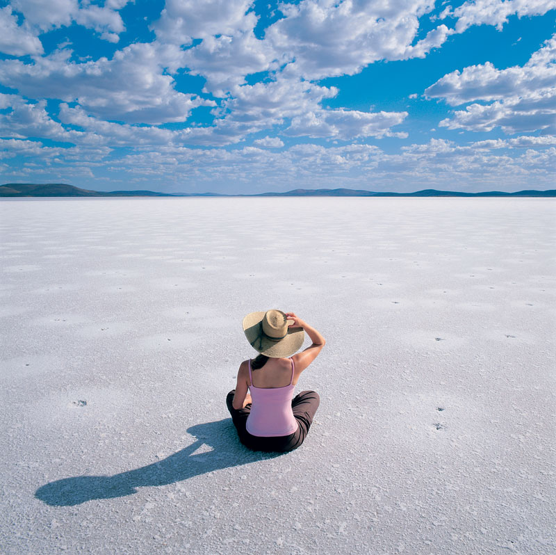 Bake on the world's largest salt lake. Image by Tourism South Australia