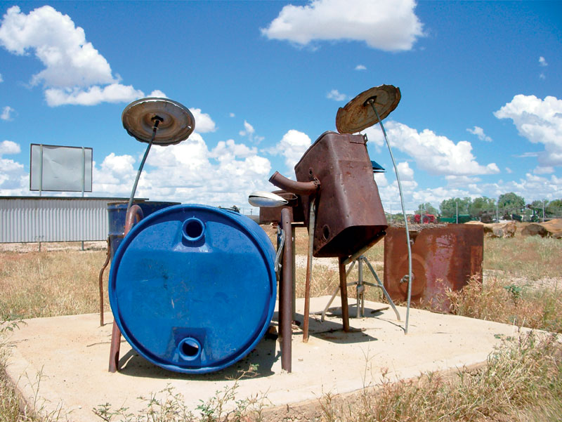 Strike a chord on the Musical Fence. Image by Tammy Miller, Winton Shire Council