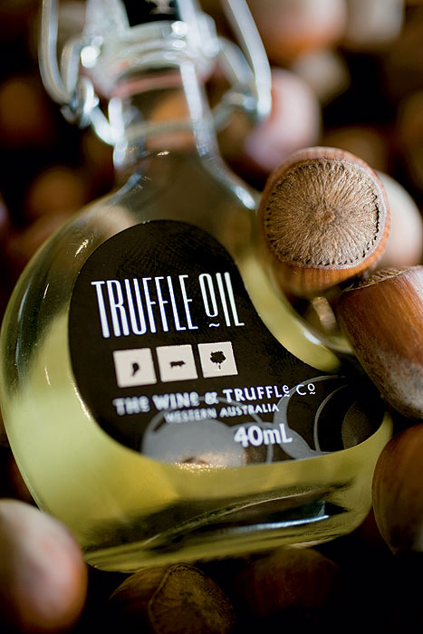 Truffle oil from the Wine and Truffle Company. Image by Gordon Hammond