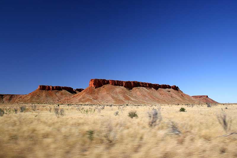 Breaden Hills, near Well 46, named for bushman Joe Breadon, a member of explorer David Carnegie�s Gibson Desert expedition. -- image by Larina Gray