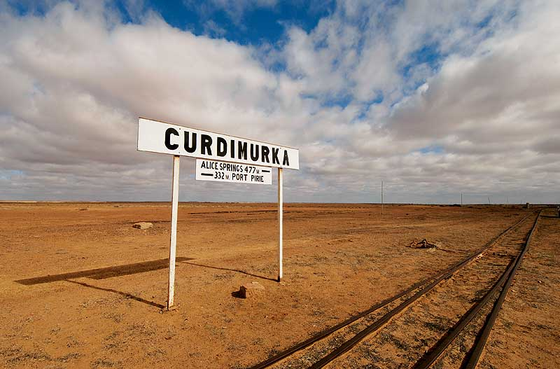 The long-deserted Curdimurka railway siding at Stuart Creek. - SA Tourism