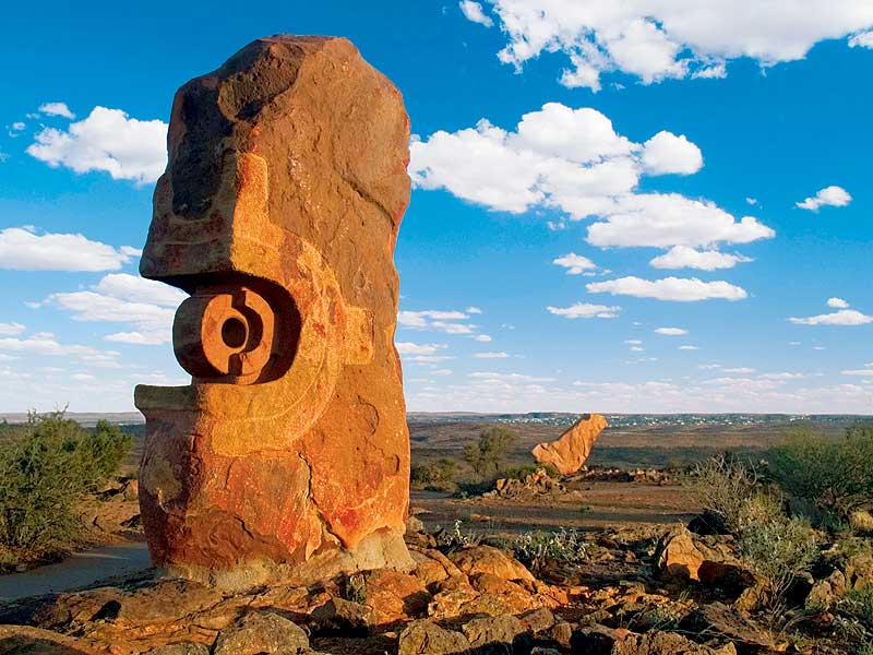 The Living Desert sculpture site at Broken Hill. -- image by Simon Bayliss/ORTO