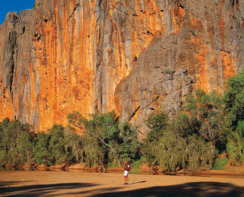 The walls of Windjana Gorge. - WA Tourism