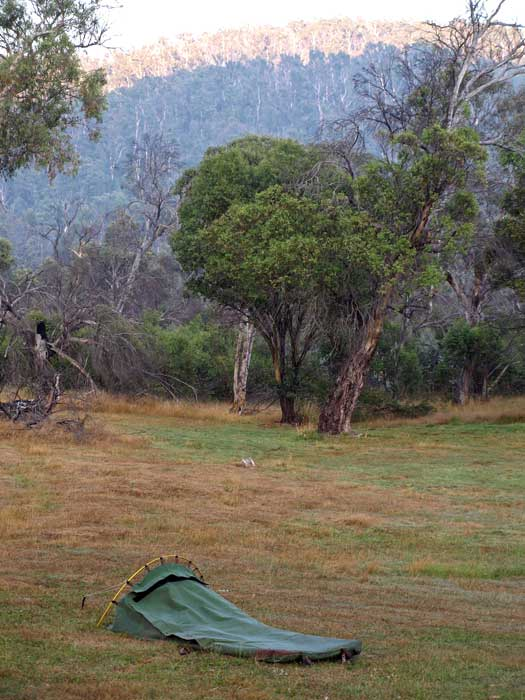 Swag it overnight in style in Namadgi. Image by Mark Jekabson