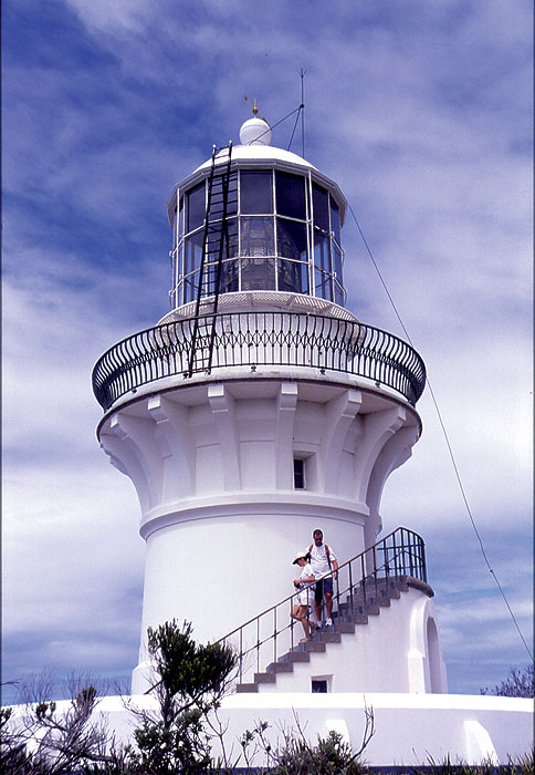 The lighthouse at Sugarloaf Point, near Seal Rocks. Image by Lee Atkinson