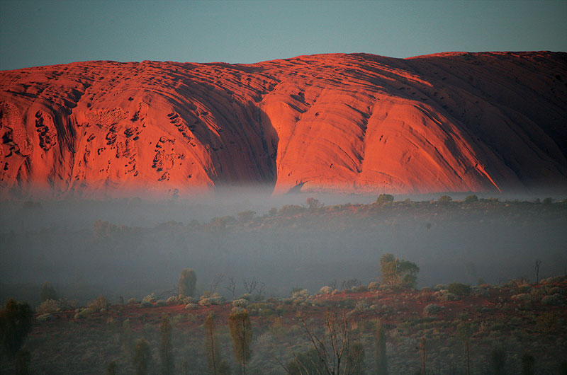 Mist and Uluru, Northern Territory