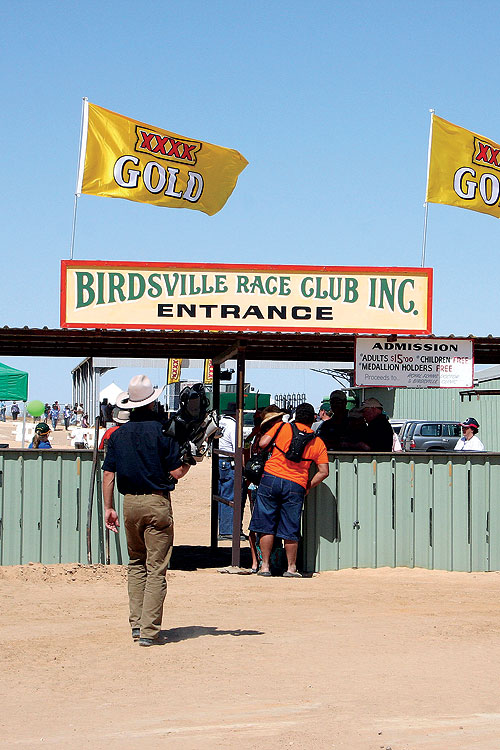 Rocky reckons the $5 entry fee is worth it to have a crack at being the only human to win the Birdsville Cup