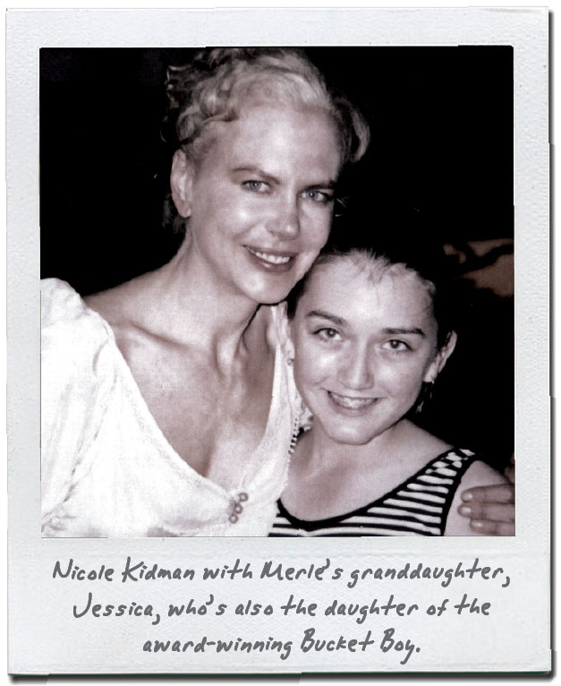 Nicole Kidman with Merle's granddaughter, Jessica