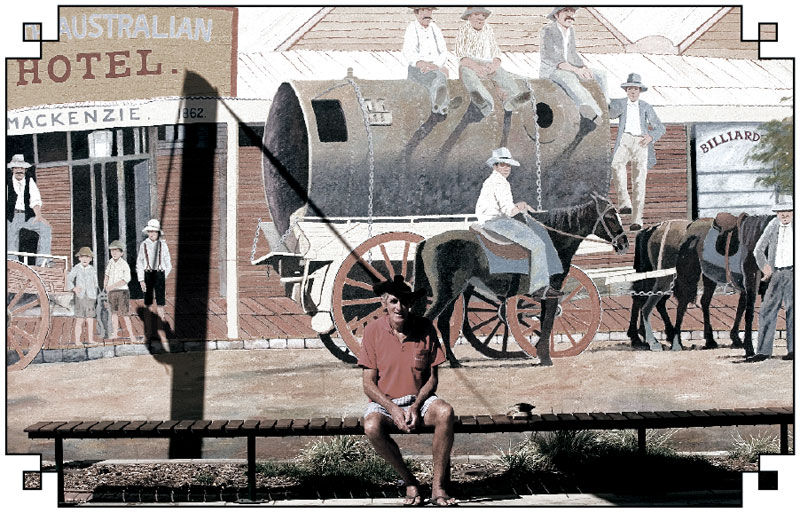 More superb murals of Bowen's checquered past.