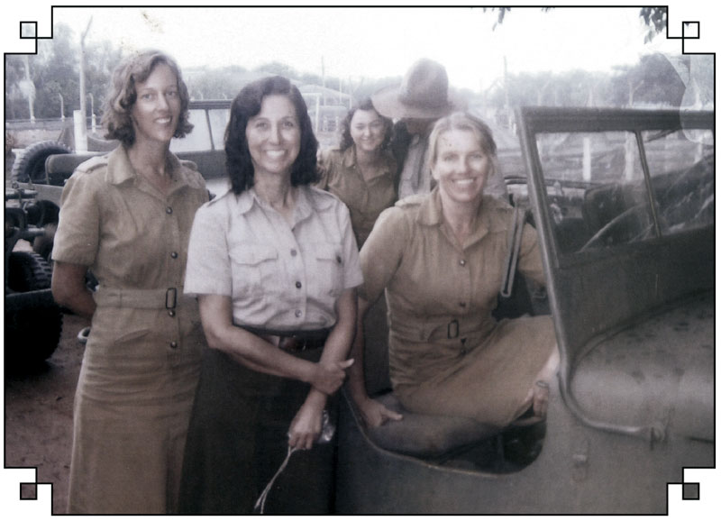 Merle's daughter Joy (far right in jeep) was given a line of dialogue to say to Nicole Kidman in the film.