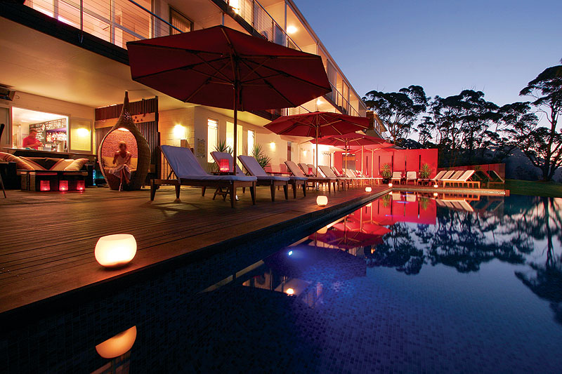 Poolside at Mollymook's Bannisters Point Lodge