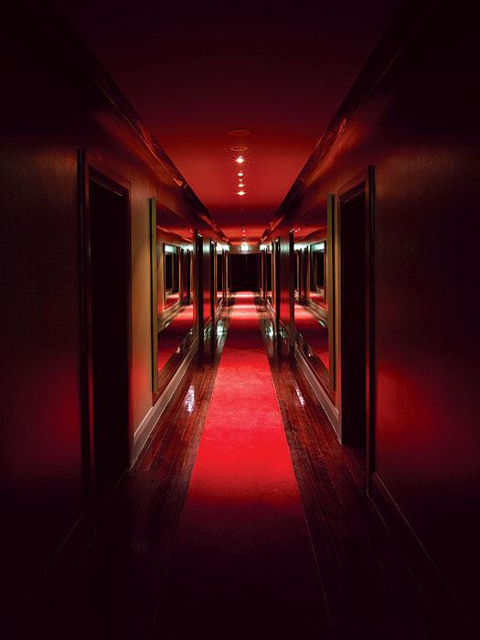 Dim hallways? Must be the deep red of Darlinghurst's Kirketon interior,