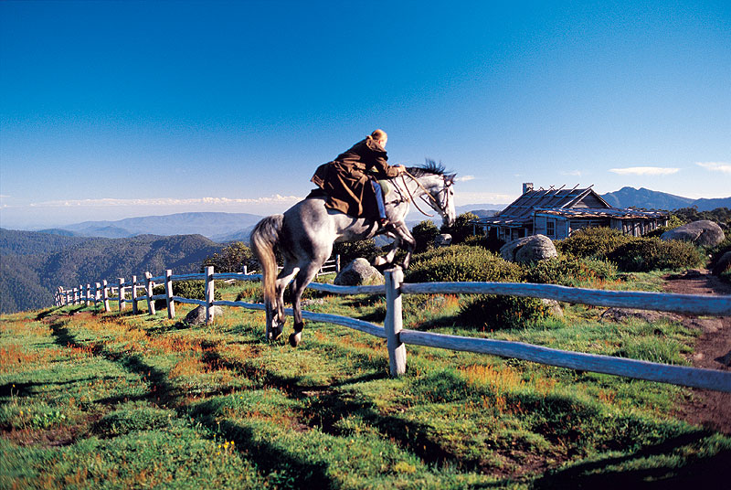 Craig's Hut, of Man From Snowy River fame. Image by Tourism Vic.