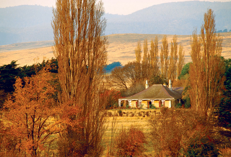 Tasmania's Somercotes, settled in 1823. Image by Tourism Tas.