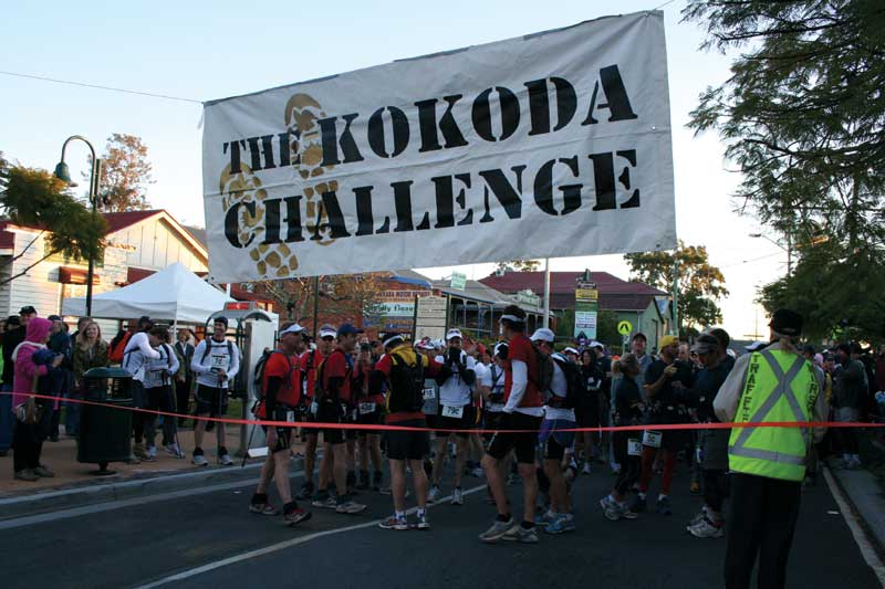 A chilly start to the GC Kokoda Challenge, as 1200 starters listen to the Last Post and final briefing. Image by Kokoda Challenge Association