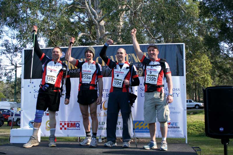 Victory is sweet. Prizes are awarded in many categories such as over 50's, all women, and families. Image by Kokoda Challenge Association