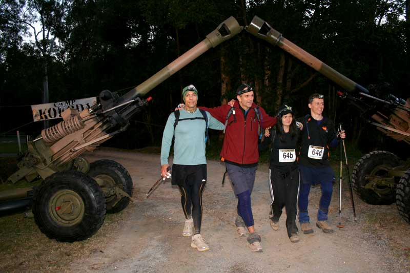 Australian artillery guns form an archway near the start of the GC track. Image by Kokoda Challenge Association